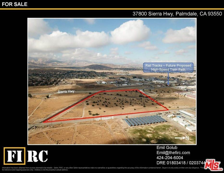 Land for Sale at 37800 Sierra Hwy Palmdale, California 93551 United States