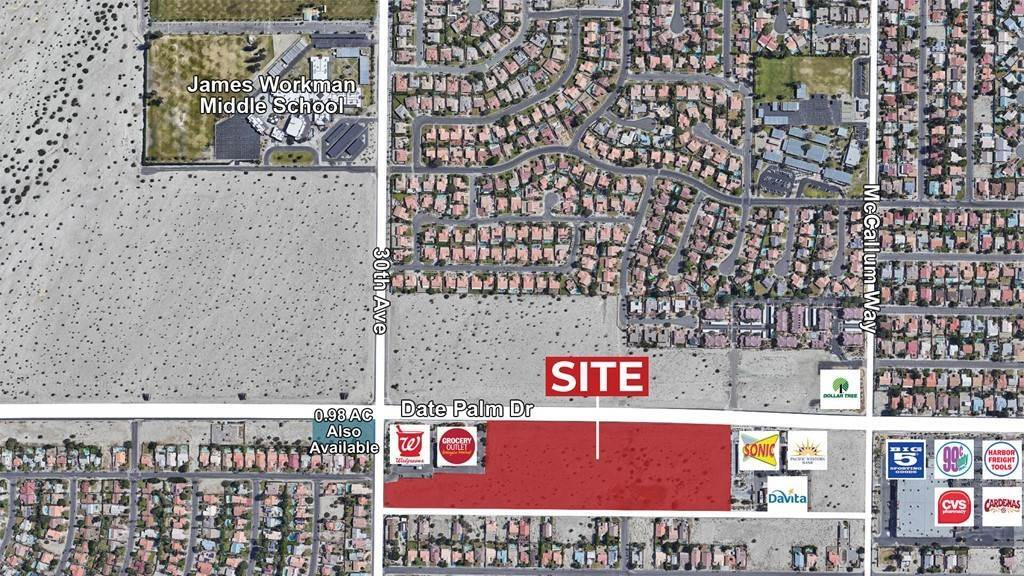 Land for Sale at W Date Palm Dr & S 30th Avenue Cathedral City, California 92234 United States