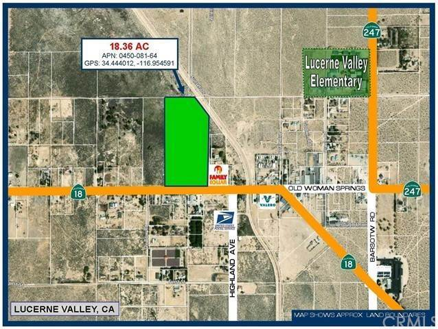 Land for Sale at CA-18 Highway Lucerne Valley, California 92356 United States