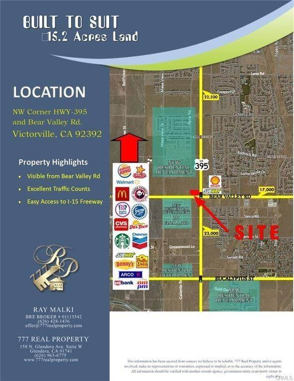 Land for Sale at 395 & Bearvalley Victorville, California 92392 United States