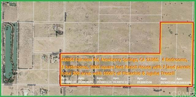 Residential for Sale at 48084 Fairview Road Newberry Springs, California 92365 United States